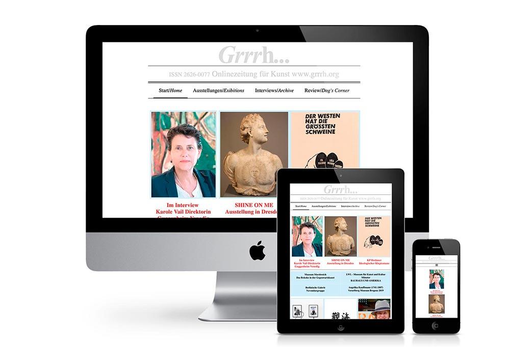 VOIGT.GRAFIK - Website für Grrrh... Onlinezeitung für Kunst