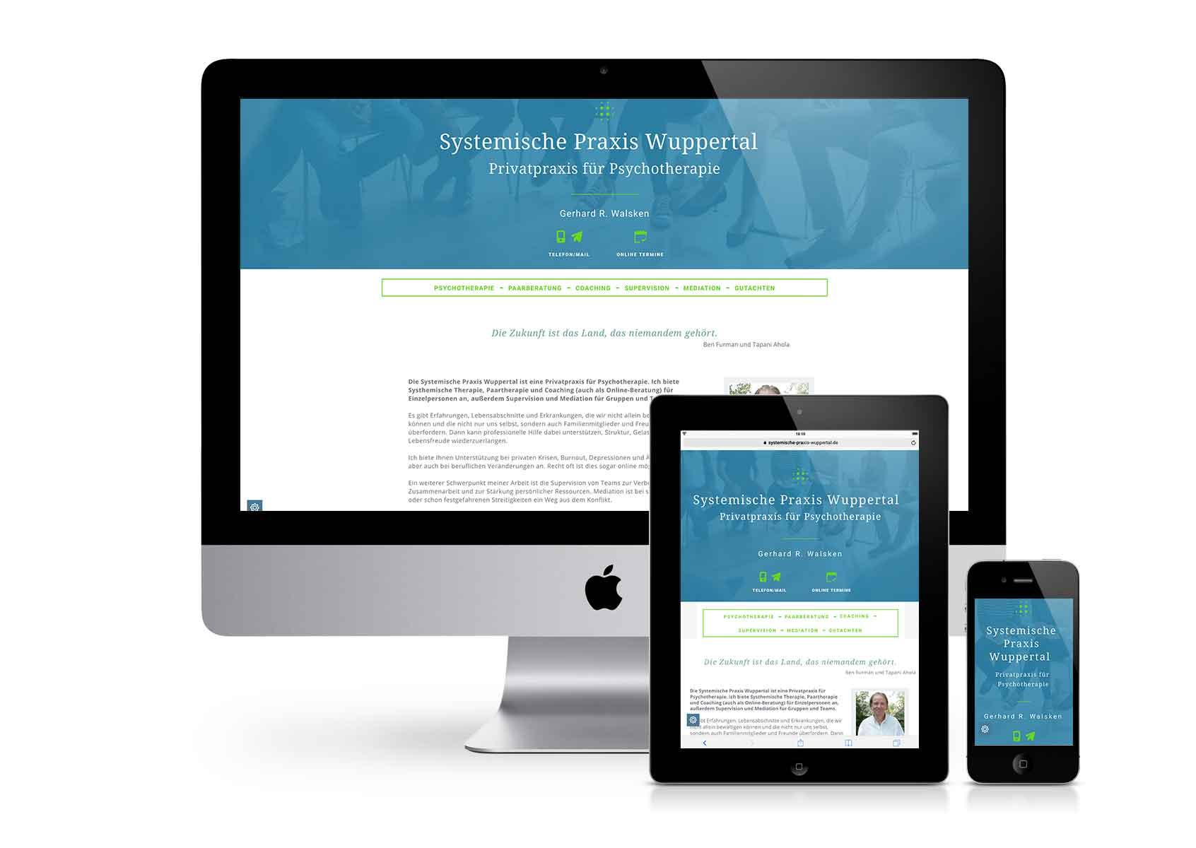 VOIGT.GRAFIK - Website Systemische Praxis Wuppertal